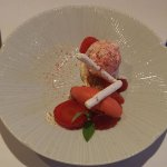 Strawberries & cream dish - absolutely delicious!