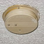 Very Old smoke detector in room, beeped all night