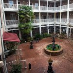 Courtyard of the hotel