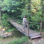 thru the garden terraces, a wooden bridge to begin ur trek right from the hotel property.