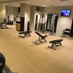 Very nice Precor equipped gym on first floor open 24 hours
