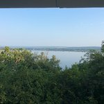 View of river fro upper bedroom balcony