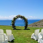 Wedding ceremony at Villa Big Blue, Chania, Crete
