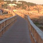 Boardwalk from beach to Alvor , takes about half an hour