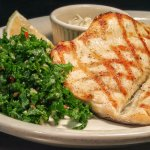 North Carolina Rainbow Trout with Kale Salad
