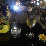 a glass of ArmAs wine