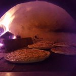 Some of our pizzas and visitors