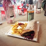 Traditional falafel wrap meal