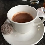 The food was exquisite! Theo's Pot of Chocolate served in demitasse cups. Absolutely to die for!