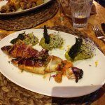 Stuffed squid was delicious and again, very attractively presented