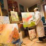 L'atelier de peinture d'Isabelle Frigière