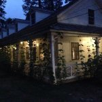 Clark Cottage at night