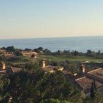 View from villa balcony