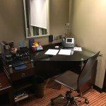 Work area with Nespresso coffee machine