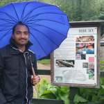 Clicked infront of Trout Hatchery