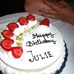 my lovely birthday cake from Dennis and the staff at michaelos