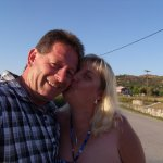 me and hubby in zante