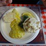 Broiled haddock