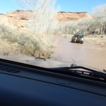 Crossing the river in Canyon de Chelly