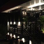 The restaurant at night and the stylish bar