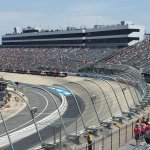 view of front stretch from turn 4 row 16
