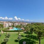Vue panoramique depuis appartement deluxe côté jardin/piscine - Salina Bay