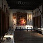 Interior castle dining hall