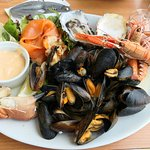 The incredible seafood platter!