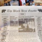 Cute retro local newspaper with the menu located inside.