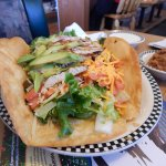 Taco Salad with grilled chicken and avocado.
