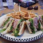 The Turkey Club Sandwich-Turkey, Ham, Bacon & Lettuce on your choice of bread.