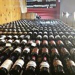 Wine racks along the east wall.