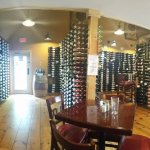 Lots of wine racks throughout the east side of the restaurant.
