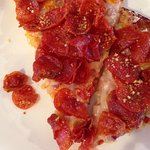 Piled high with nickel-sized spicy pepperoni. Loved it!