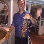 Server with my lobster