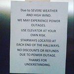 Elevator note