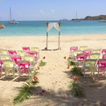 A lovely wedding isle on Lindbergh Bay