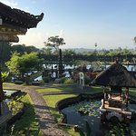 Front view of Tirta Ayu restaurant, great view for a brekki