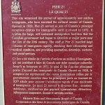 Pier 21 plaque