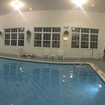 Magnuson Grand Hotel Lakefront. Has everything we need. Pool, laundry, views, clean, friendly, e