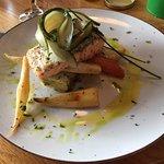 Amazing salmon with veggies