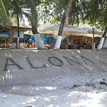many small businesses populate the Alona Beach area