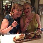 Sharing a dessert!