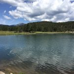Lake behind Ruidoso hotel.