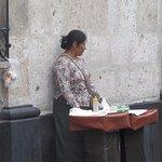 the lady that sells lovely empanadas