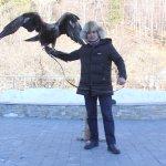 Eagle hunter in the Medeu.