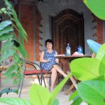 Porch in front of our rooms