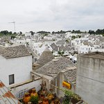A view of Alberobello from the belvedere not far from Trulli Holiday Resort.