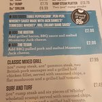 A view of some of the steak meals n prices