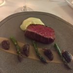 beef with asparagus and morels. a knockout.
